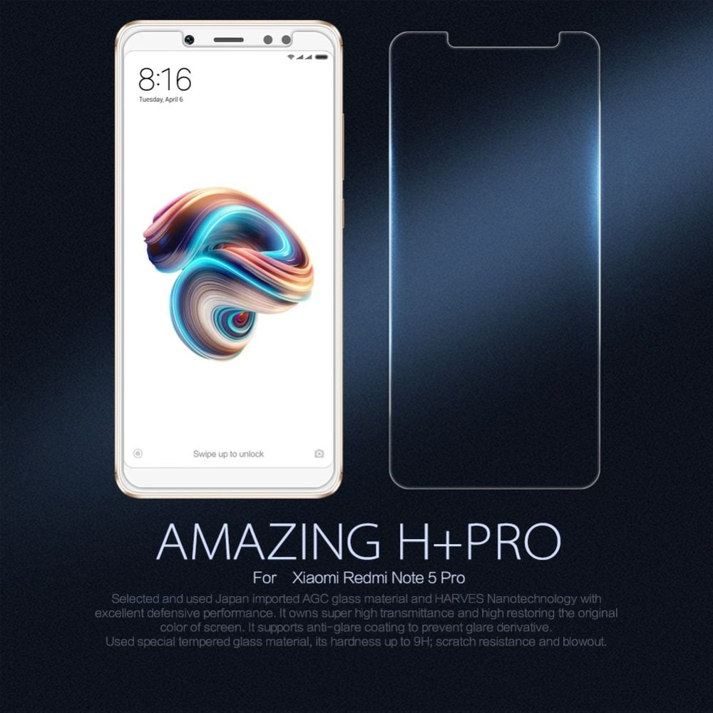 NILLKIN 9H H+Pro Tempered Glass For Xiaomi Redmi Note 5 pro Screen Protector Protective Redmi Note 5 Pro Int'l Toughened Film