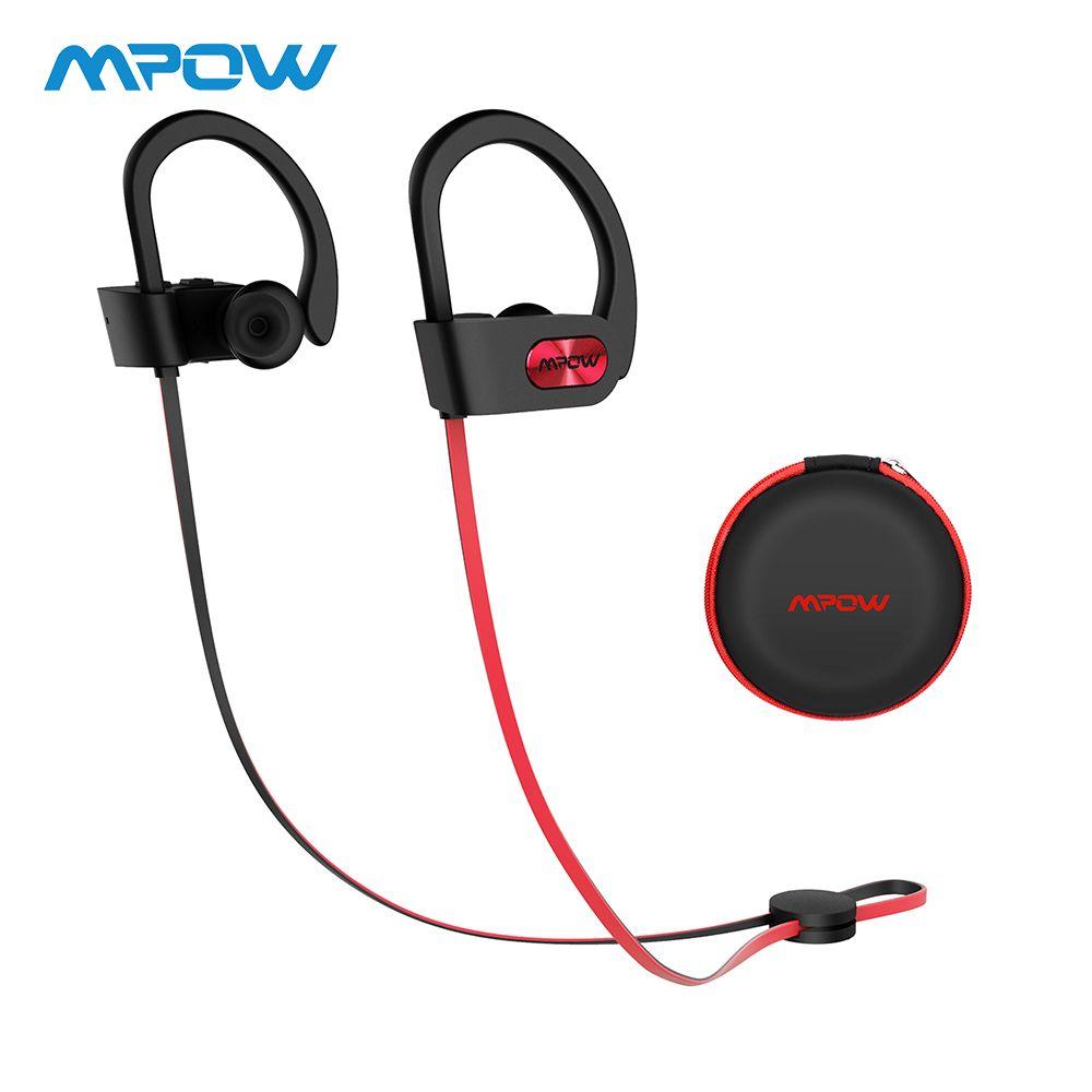 Original Mpow flamme Bluetooth casque HiFi stéréo sans fil écouteurs étanche Sport écouteurs avec micro/Portable étui de transport