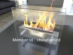 Cheminée éthanol FD47 + acier inoxydable + table top modèle