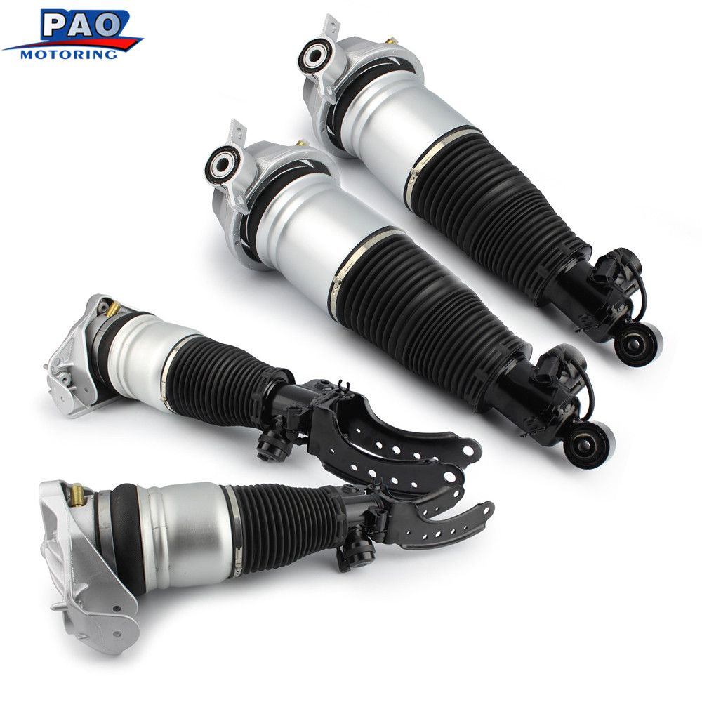 4PC New Front and Rear Air Suspension Shock Absorber Strut For Audi Q7 Porsche Cayenne Volkswagen Touareg 7L5616039,7L5616019F