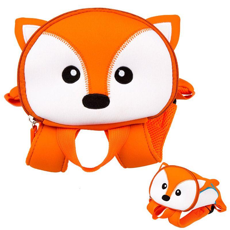 3D Animals Fox School Bags For Boys Children Anti-lost Backpacks Kindergarten School Backpack Kids Small Bag Mochila Infantil