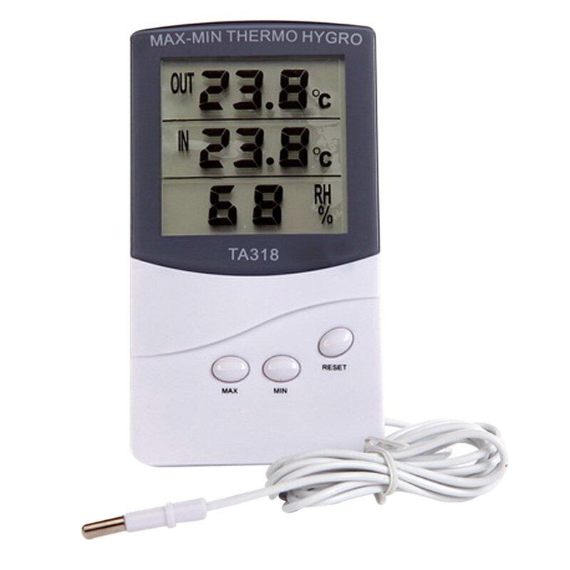 Indoor Outdoor Digital LCD Thermometer Hygrometer Temperature -50 to 70 Centigrade Termometros Digitales 12.5 x 7.0 x 1.92cm