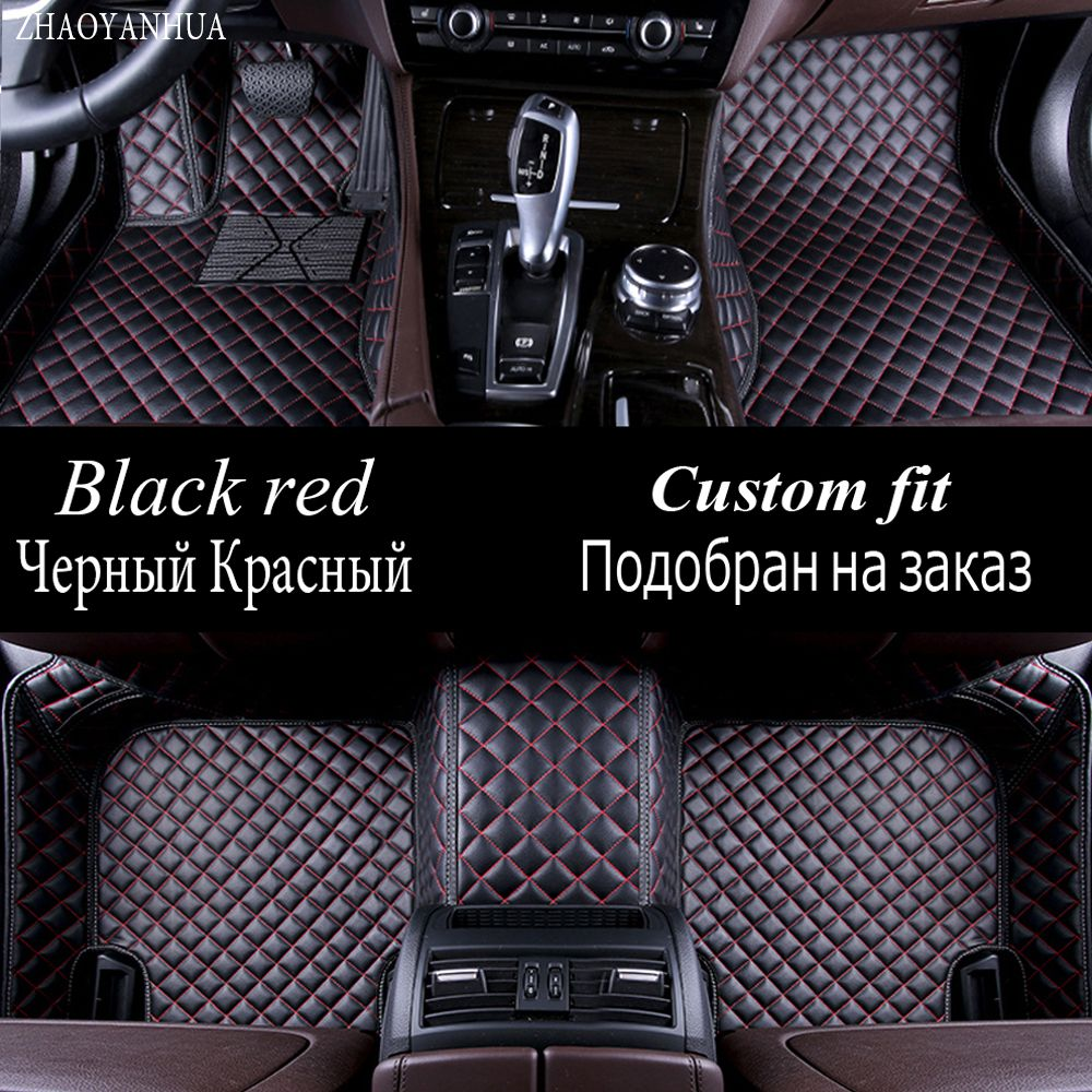 ZHAOYANHUA car floor mats special for Mercedes Benz C117 CLA X156 GLA GLK GLC GLE GLS class X204 X205 X166 car-styling carpet