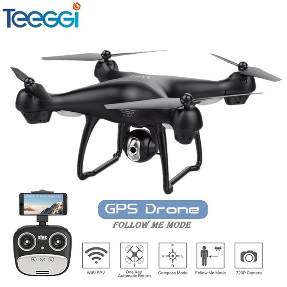 Newest GPS FPV RC Drone with 1080P Adjustable Wide Anlge Camera WIFI FPV Follow Me GPS Return Home RC Quadcopter Drone VS X8PRO