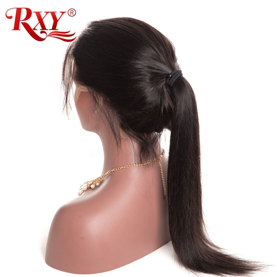 RXY 360 Lace Frontal Wig Pre Plucked With Baby Hair Straight Brazilian Wig Lace Front Human Hair Wigs For Black Women Non Remy