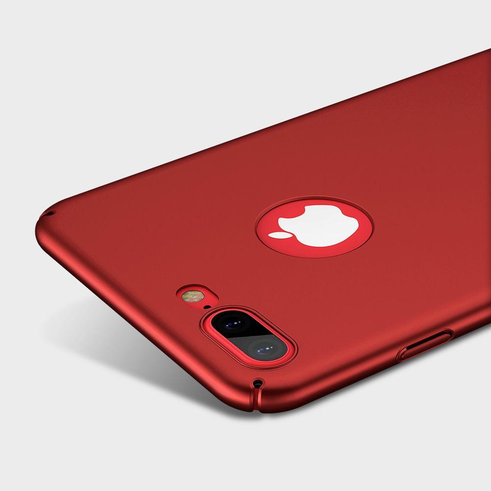 FLOVEME Hard Red Matte PC Fall für iPhone 7 7 Plus Fall 6 6 s Plus Luxury Extreme Touch Dünner Kunststoffgehäuse für iPhone 7 7 Plus