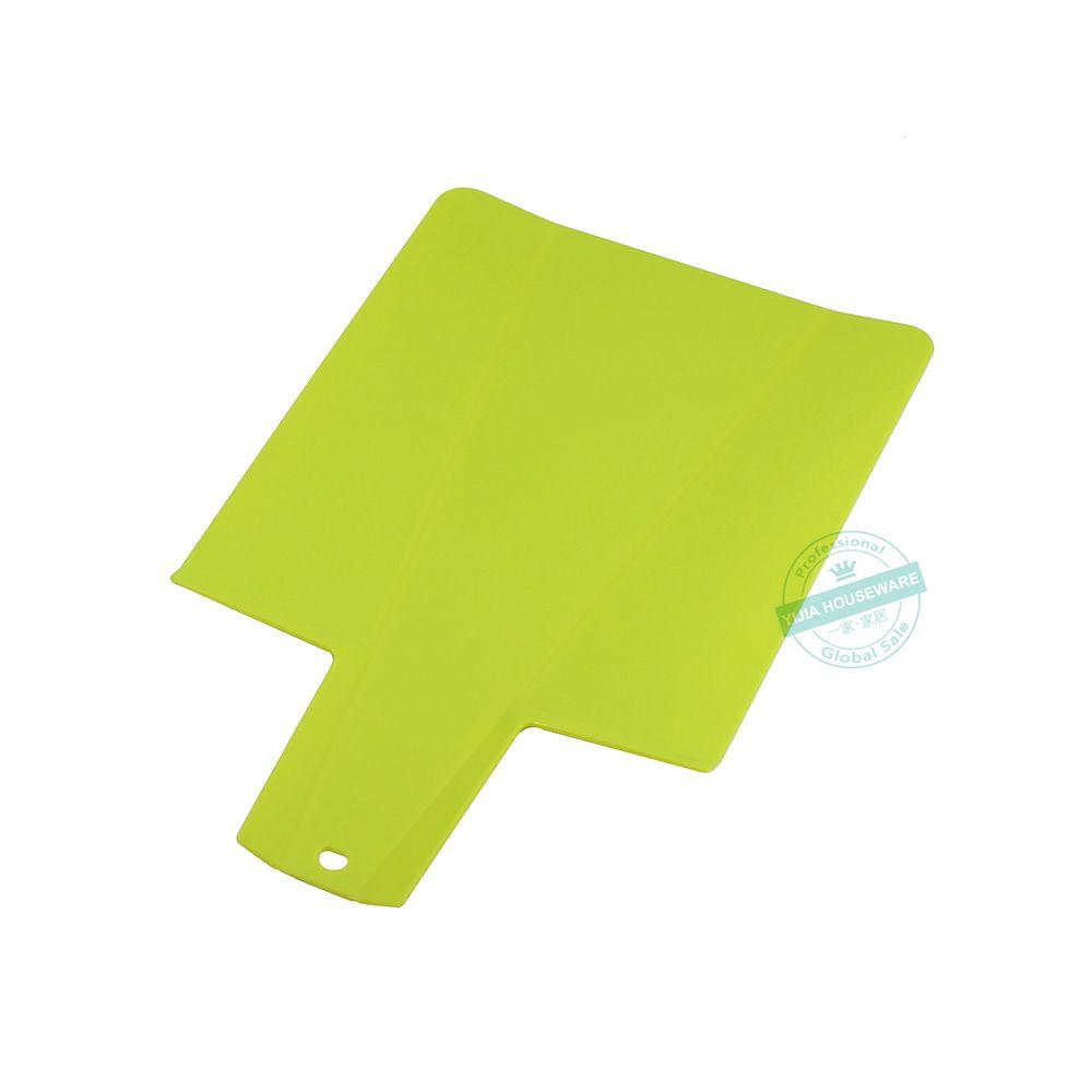 Faltbare Kunststoff Schneidebrett 9,75x8,75 zoll Schneidebrett Küche Prep Matte mit Rutschfeste füße 3,5-zoll Griff, grün