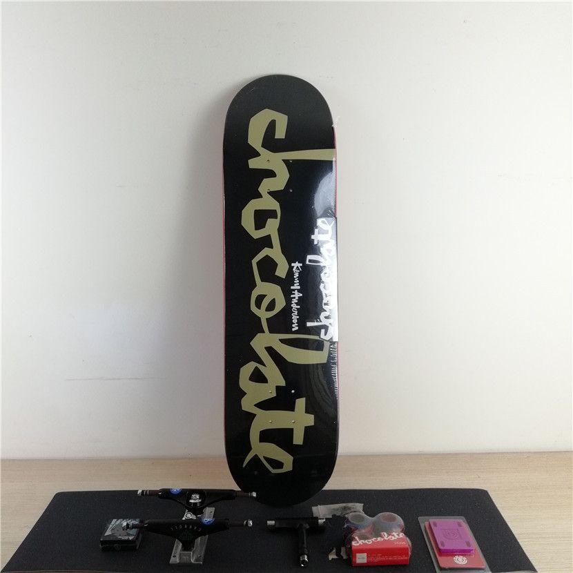 Complete Skateboard Set Plus Pro Deck Truck Wheels & Bearings with Skateborad Accessories
