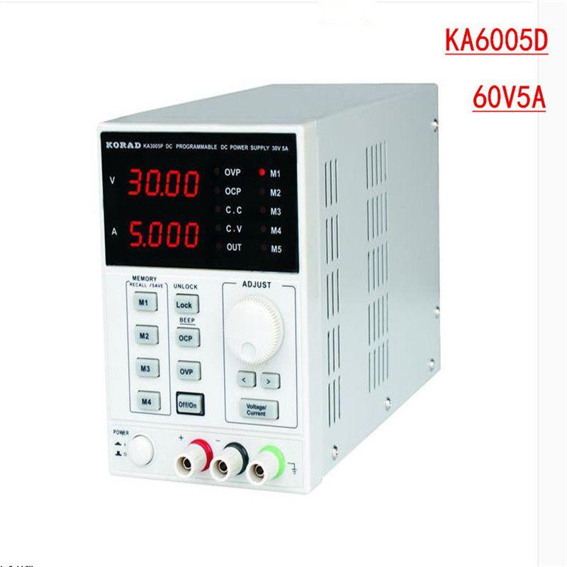 KORAD KA6005D-précision Variable réglable 60 V, 5A DC alimentation linéaire numérique de qualité de laboratoire régulée