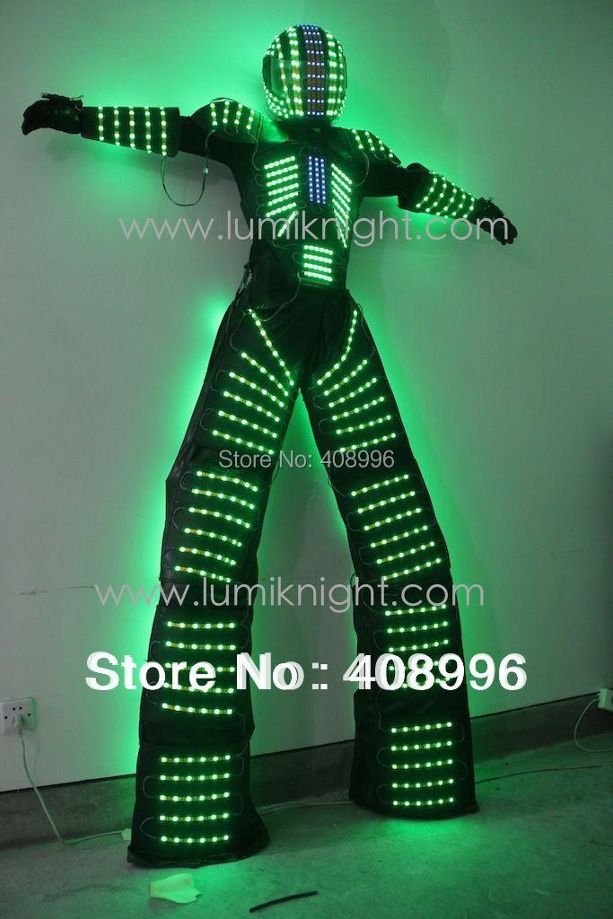 FÜHRTE roboterkostüm/David Guetta LED-robot anzug/beleuchtet kryoman Roboter