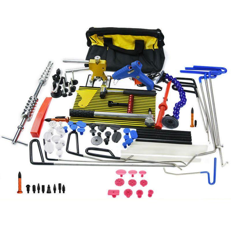 Furuix PDR Rods Dent Puller Dent Lifter PDR Light Slide Hammer Car Dent Remover Kit PDR Glue stick Removal Hail Rods tool set