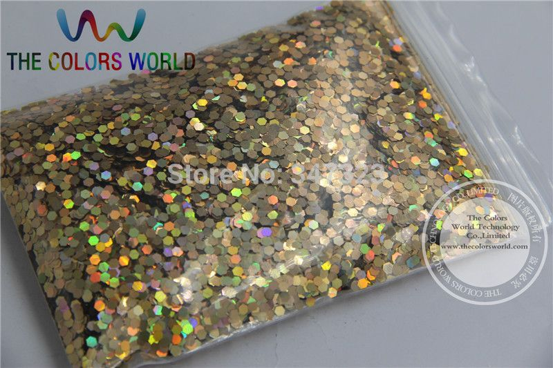 2MM  Laser Red Gold  Color Glitter  Spangles ,holographic Color Sequins  for nail art  or Other DIY decora