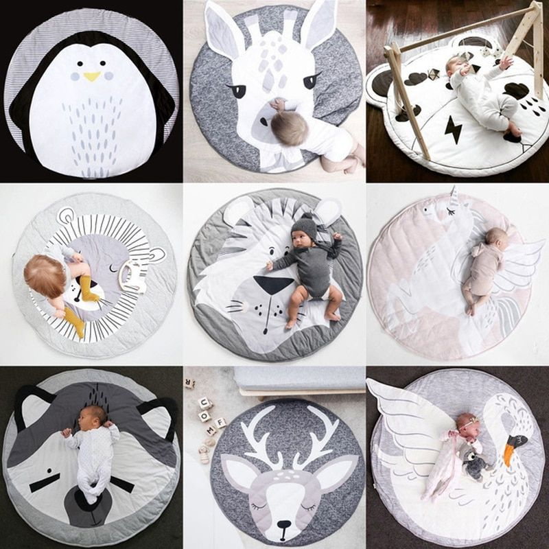 Baby Gyms & Playmats Kids Animal Series Cushion Newborn Infant Soft Cotton Play Pad Baby Crawling Pad Creeping Climbing Carpet