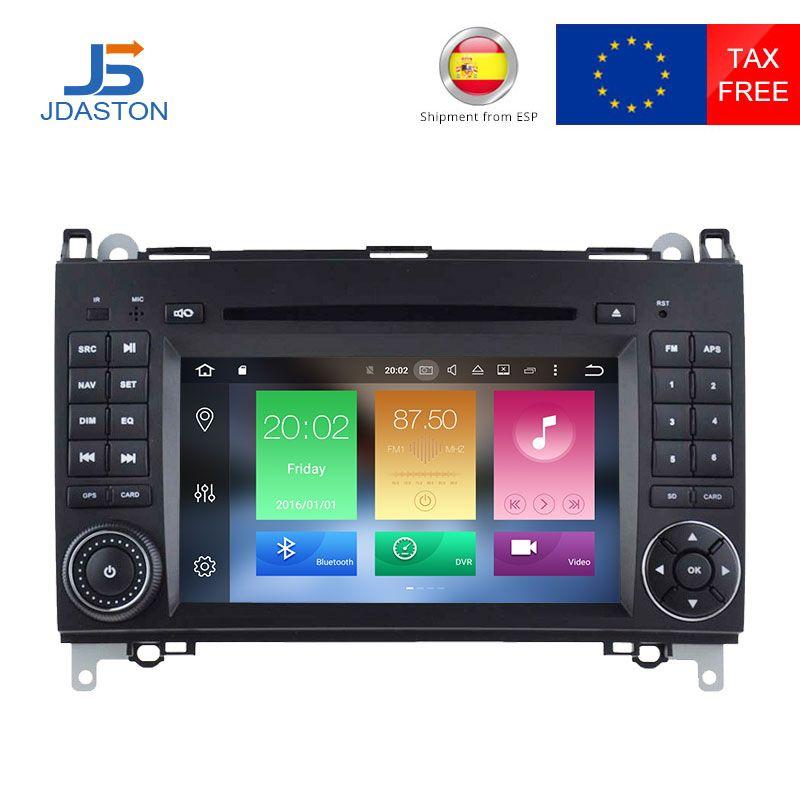 JDASTON 4G+32G Android 8.0 Car CD DVD Player For Mercedes Benz Sprinter B200 B-class W245 B170 W209 W169 GPS Radio Multimedia