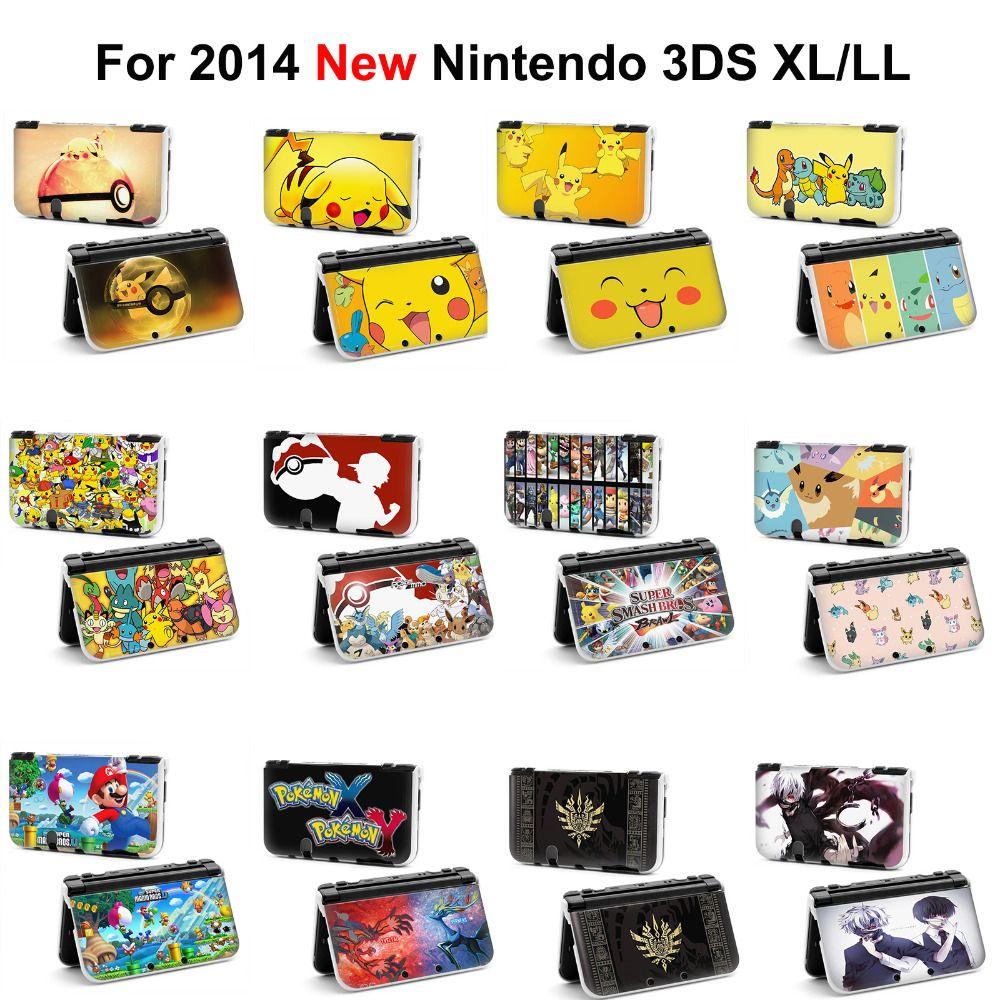 1 pièces pokemon pikachu xy x y zelda boule à dents Tokyo Ghoul Console de jeu étui rigide de protection FIGURE de couverture pour 2014 New 3DS XL LL