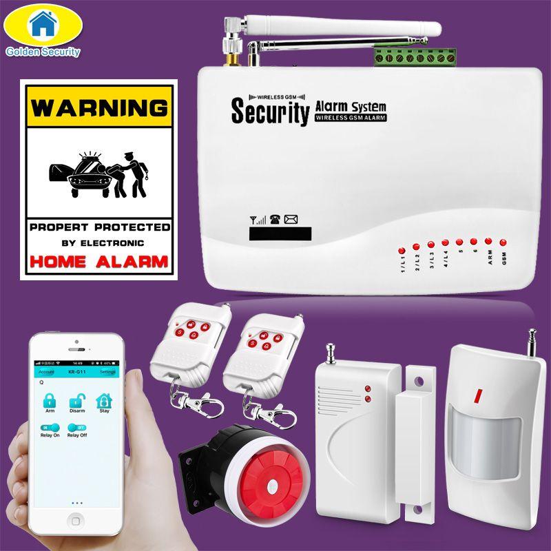 APP contrôle sans fil GSM système d'alarme double antenne systèmes d'alarme sécurité maison GSM 850/900/1800/1900 MHz espagnol/russe/anglais