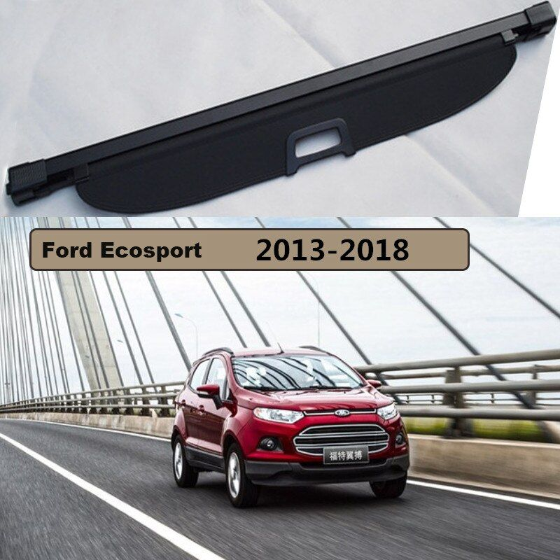 Rear Trunk Security Shield Cargo Cover For Ford Ecosport 2013 2014 2015 2016 2017 2018 High Qualit Black Beige Car Accessories