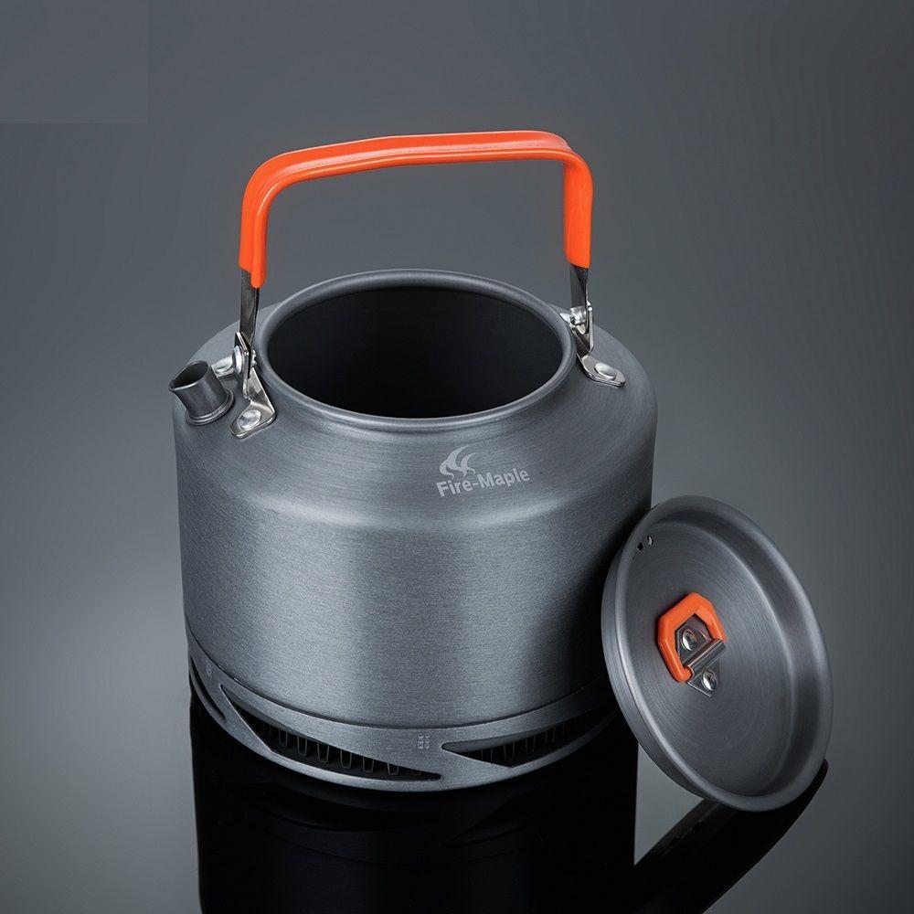 Pot de thé de café de bouilloire d'échange de chaleur de Pinic de Camping extérieur d'érable de feu 1.5L avec le FMC-XT2 de filtre de thé de poignée de preuve de chaleur