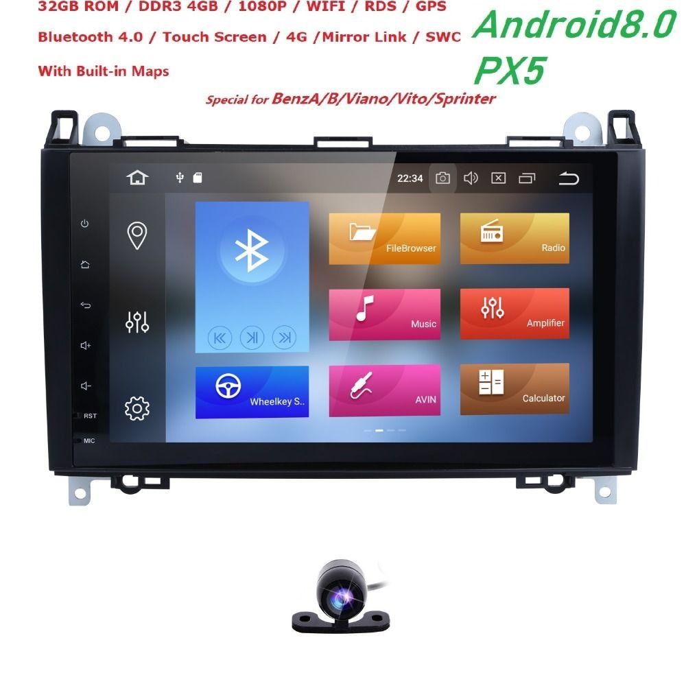 9' Android 8.0 Auto Multimedia für Mercedes Benz sprinter Vito W639 Viano W169 W245 W209 W906 Crafter AutoRadio PX5 Wifi 4 gb + 32 gb