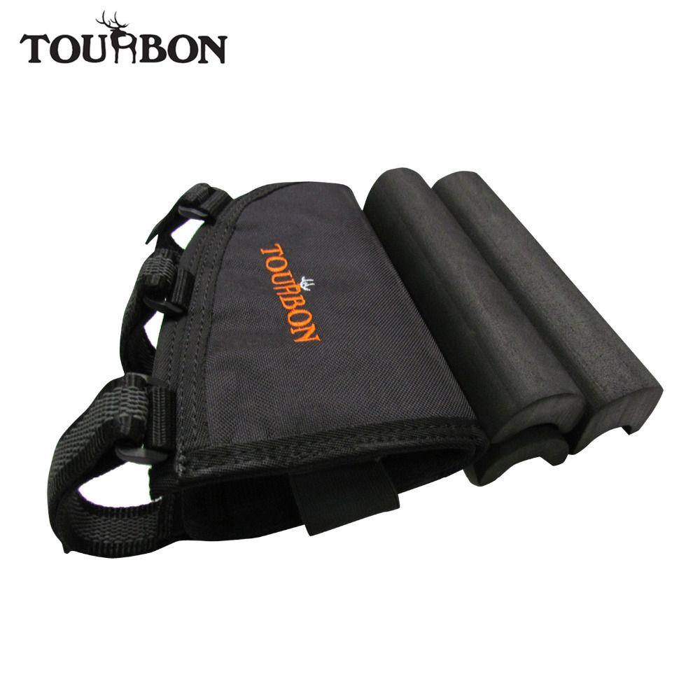 Tourbon Hunting Gun Accessories Rifle Gun Buttstock Cheek Rest w/ 3pads Adjusted Shooting Holds 10 Rifle Cartridges Ammo Holder