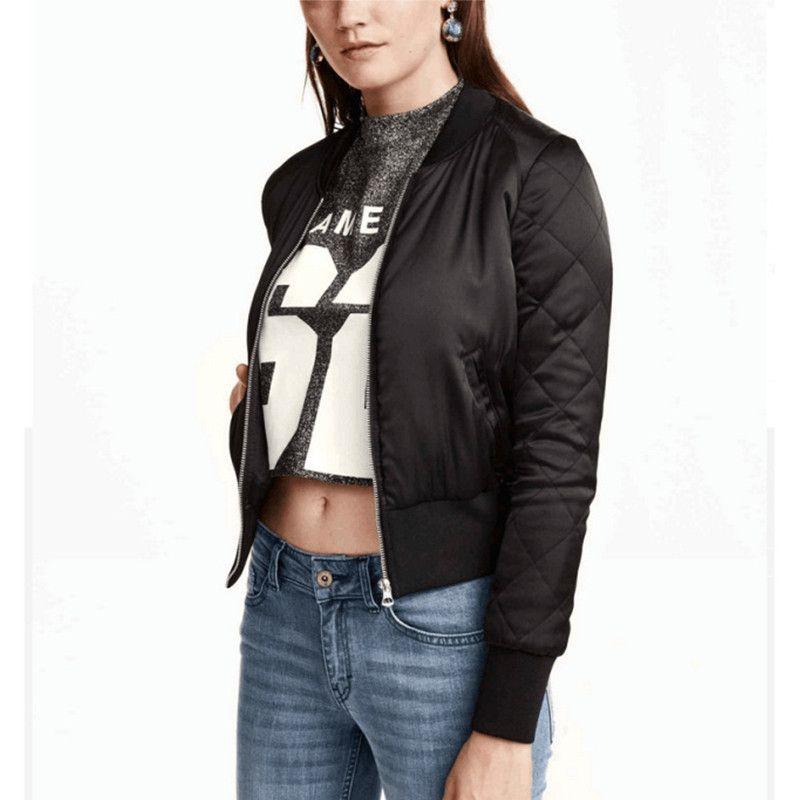 ZANZEA Bomber Jacket Coat 2017 Fashion Women Winter Warm Zipper Motorcycle Short Cotton Padded Pockets Outerwear Coats Plus Size