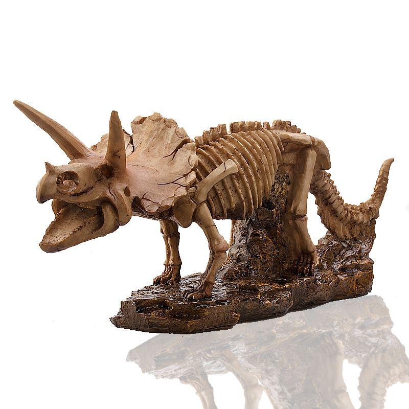 P-пламя Трицератопс Скульптура коллекция ручной ремесел sterrholophus трава статуя украшения Смола череп динозавра Сувениры