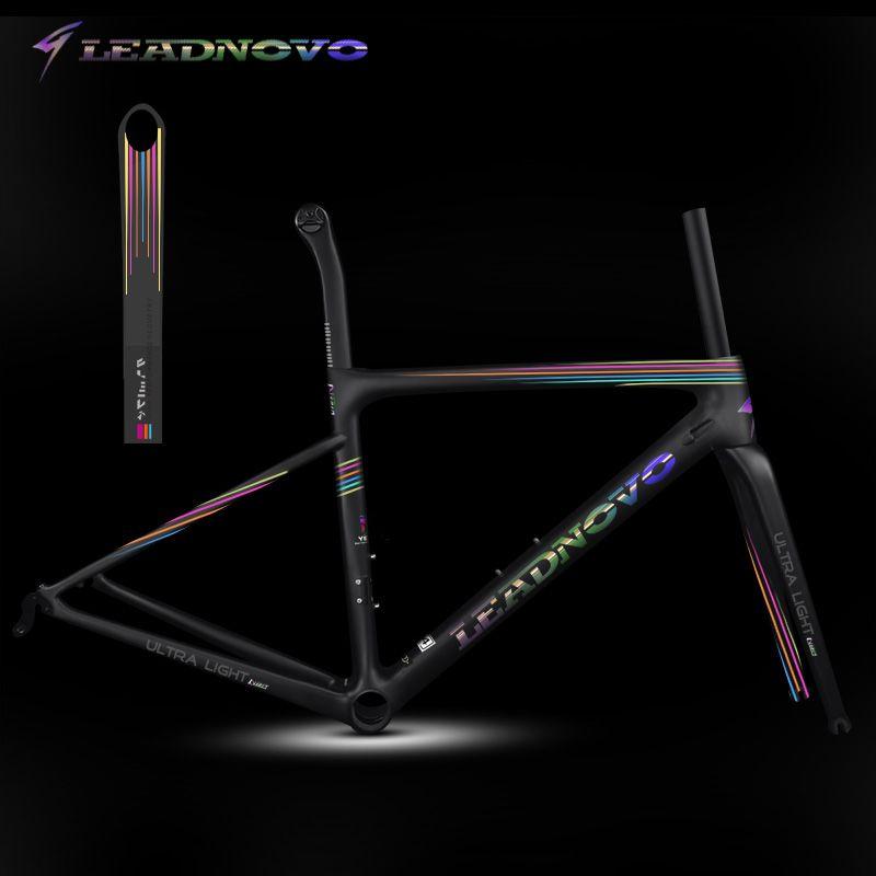 Regenbogen superlight carbon road rahmen UD matte glänzend disc bremse normalen bremse Di2 Mechanische taiwan rennen fahrrad rahmen