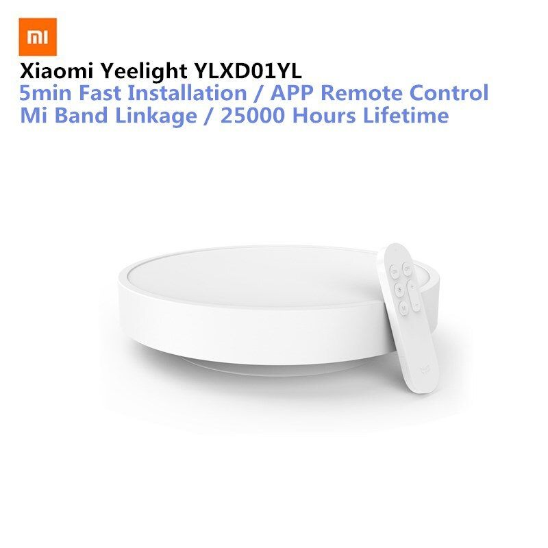 Original Xiaomi Yeelight Smart APP Remote Control LED Ceiling Lamp Bed Room Lights Cell Phone Mijia Or Bluetooth Control