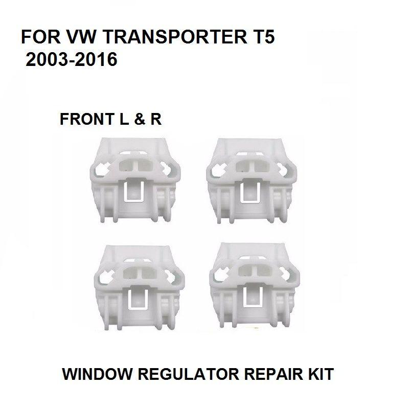 x4 CLIPS FOR VW TRANSPORTER T5 / Multivan 2003-2016 WINDOW REGULATOR REPAIR KIT FRONT LEFT and RIGHT 7H0 837 753 B,7H0 837 754 B