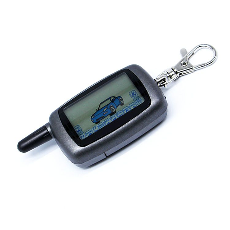 Free Shipping car keychain starline A6 car remote for A6 lcd remote two way car alarm system /FM transmitter