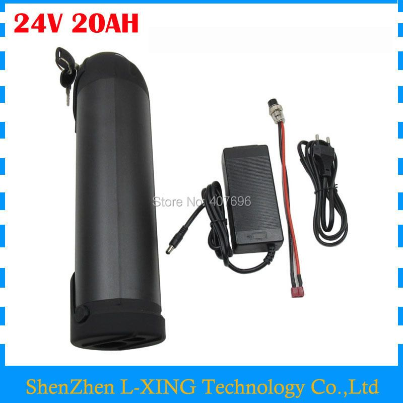 24v 20ah li-ion Battery 350W 24 V 20AH Ebike battery pack 24V water bottle battery 15A BMS with 3A Charger Free customs fee