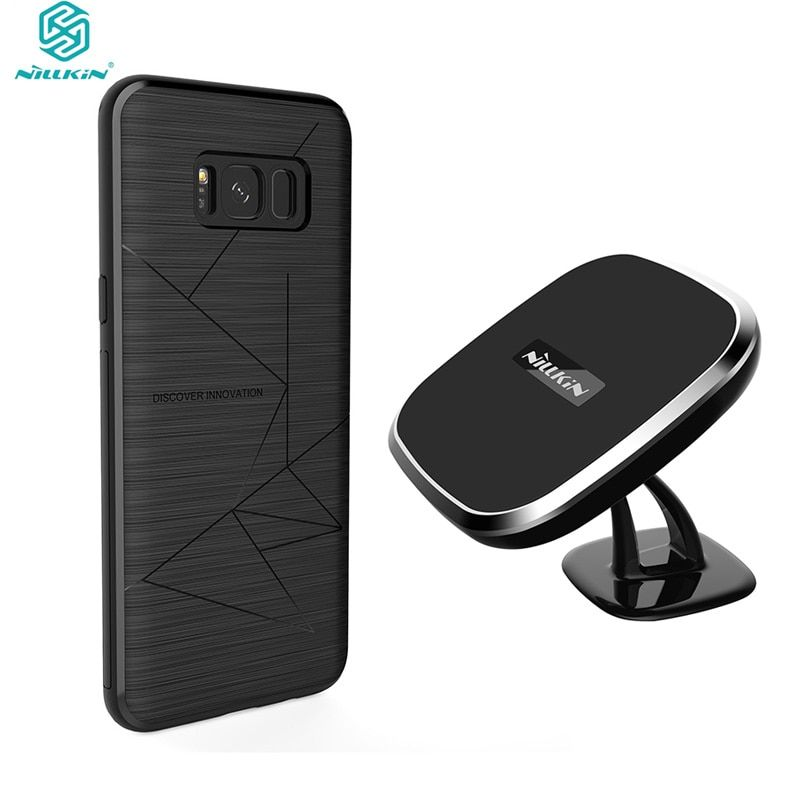 NILLKIN For Samsung Galaxy S8 Plus QI wireless charger pad + wireless charger receiver cover case for samsung S8+ free shipping