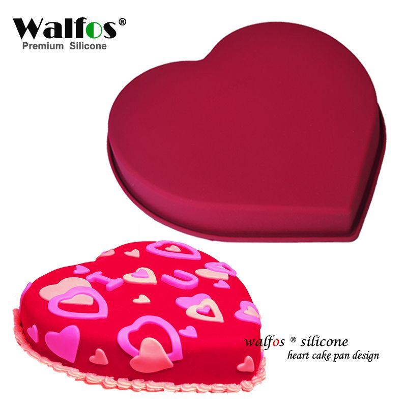 WALFOS qualité alimentaire amour en forme de coeur Silicone gâteau moule gâteau casserole antiadhésive cuisson Mousse moule Dessert décoration outils