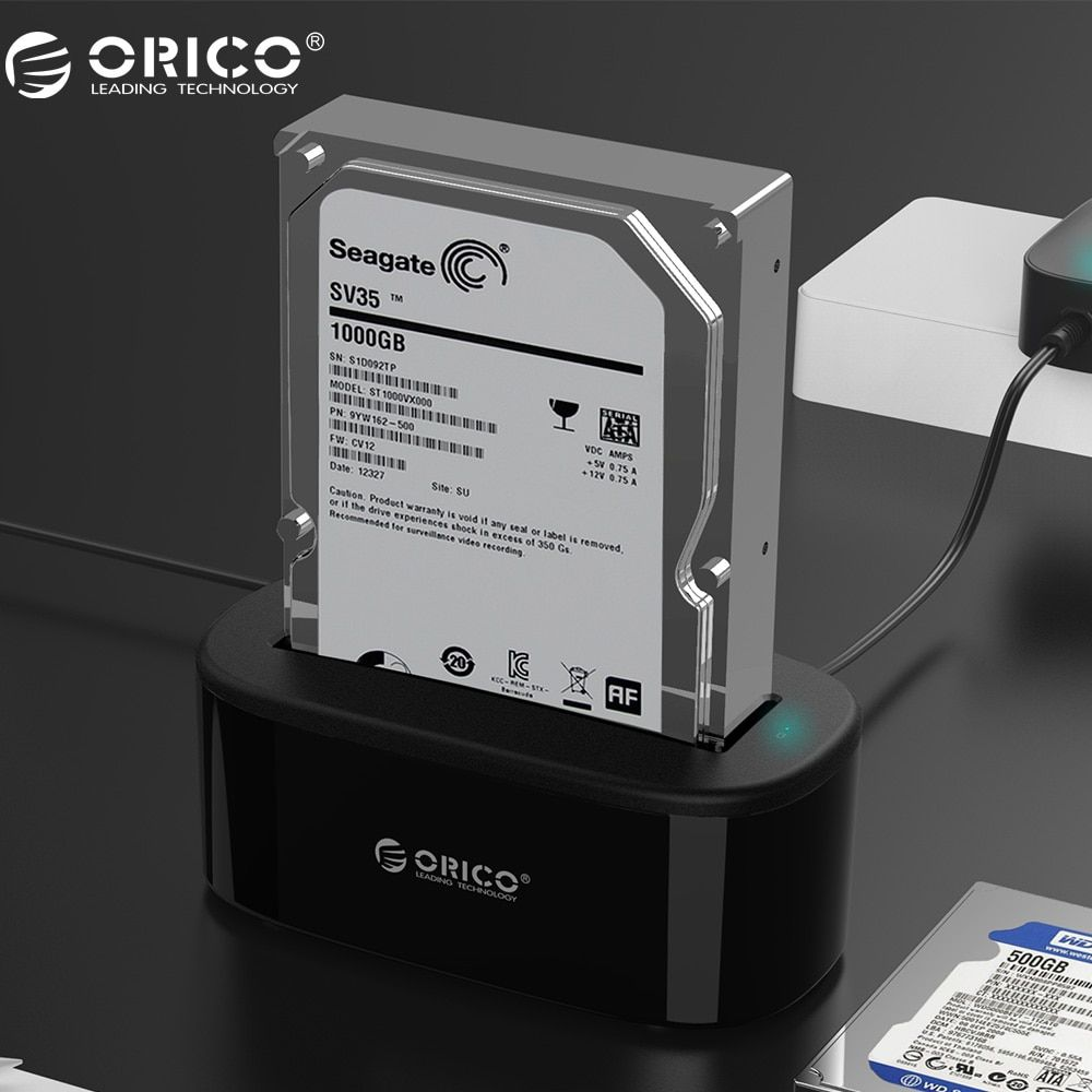 ORICO USAP HDD Docking Station 5Gbps Super <font><b>Speed</b></font> USB 3.0 to SATA Hard Drive Docking Station for 2.5''/ 3.5 Hard Drive