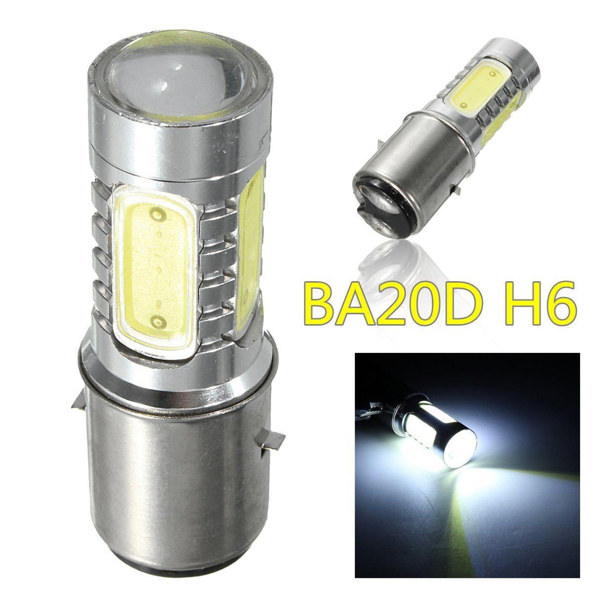 BA20D H6 Motorrad Roller COB LED Scheinwerferlampe Hallo/Lo 6000 Karat 10 Watt Motorrad Moped ATV Scheinwerfer Birne für Honda Für Suzuki