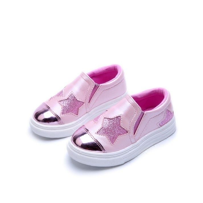 2017 Autumn New Pattern Children Girl Leisure Shoes 4-12 year Star rubber sole flat shoes for girls kids shoe for girls