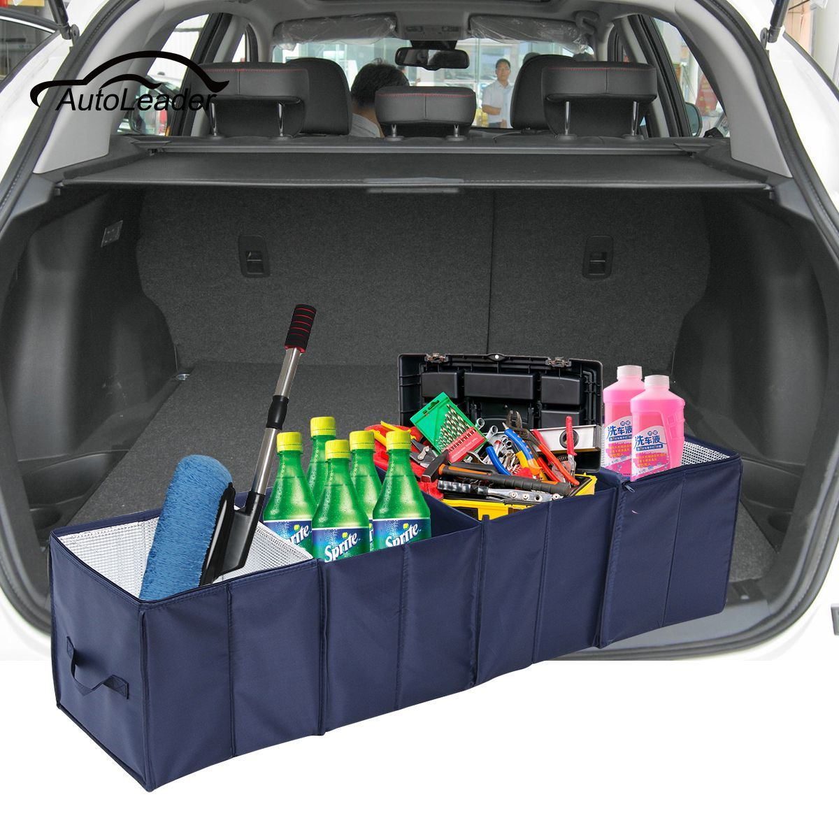 Car Trunk Cargo Boot Organiser Collapsible Cool Bag Cooler Tidy Fridge Insulated Travel Camping Portable Storage Bag