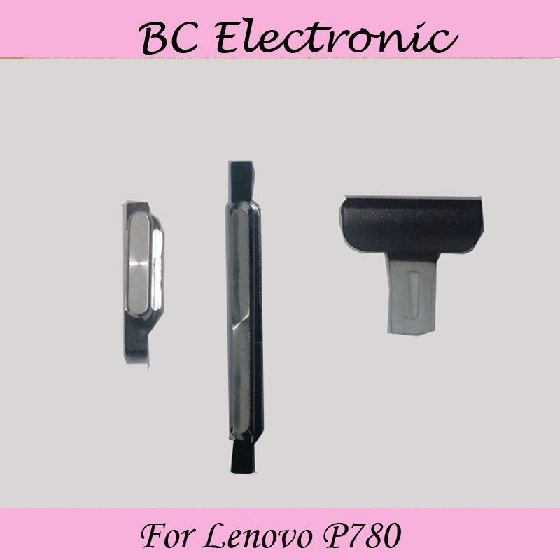 Outside Outer volume button key + Power on/ off button key + charging port for Lenovo P780 phone Black or White