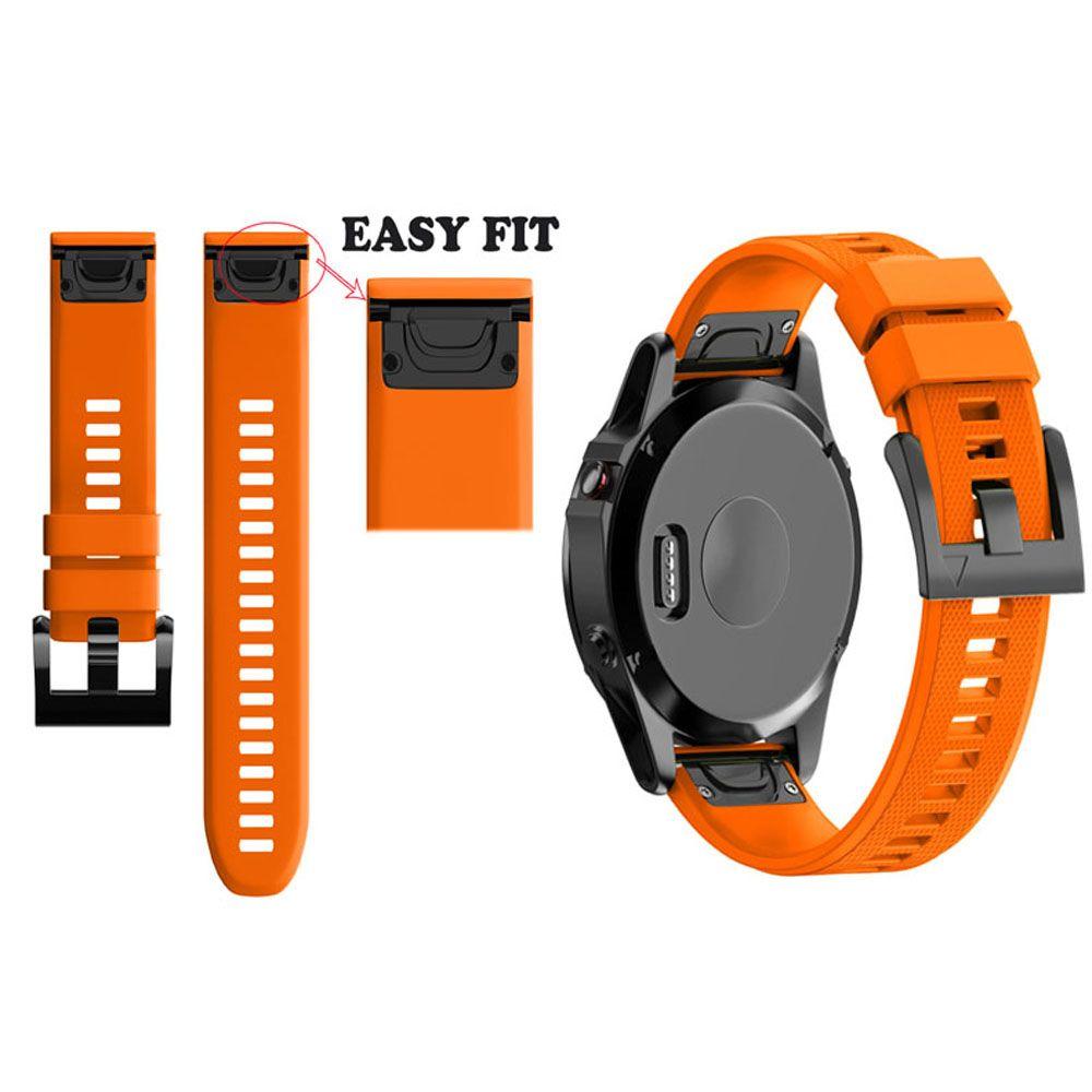 JKER 26MM Watchband Strap for Garmin Fenix 5X for Garmin Fenix 3 3 HR GPS Watch Quick Release Silicone Easyfit Wrist Band Strap