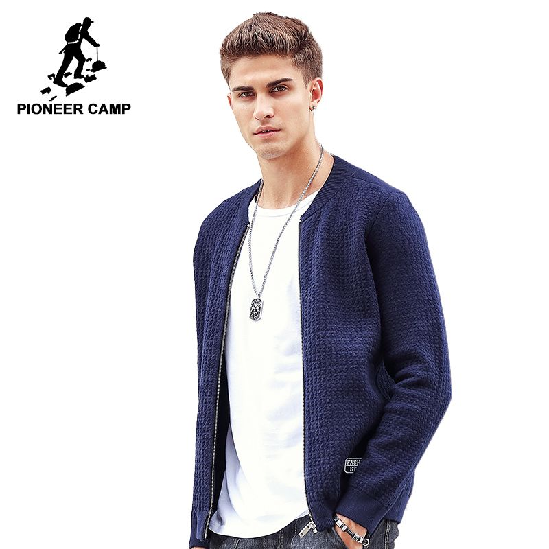 Pioneer Camp New arrival Thick Sweater Men famous brand clothing men Cardigans male casual fashion zipper sweaters 611212