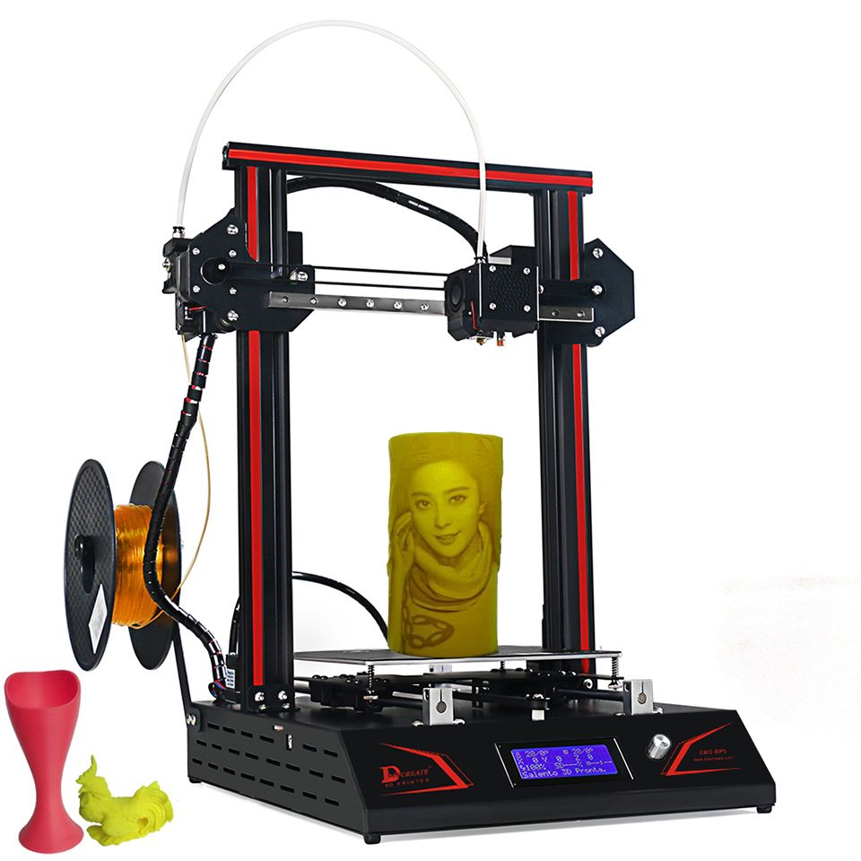 DMSCREATE DP5 3D printer kit easy assembly big printing size Auto-leveling Full Metal Frame with High Precision Linear Guide