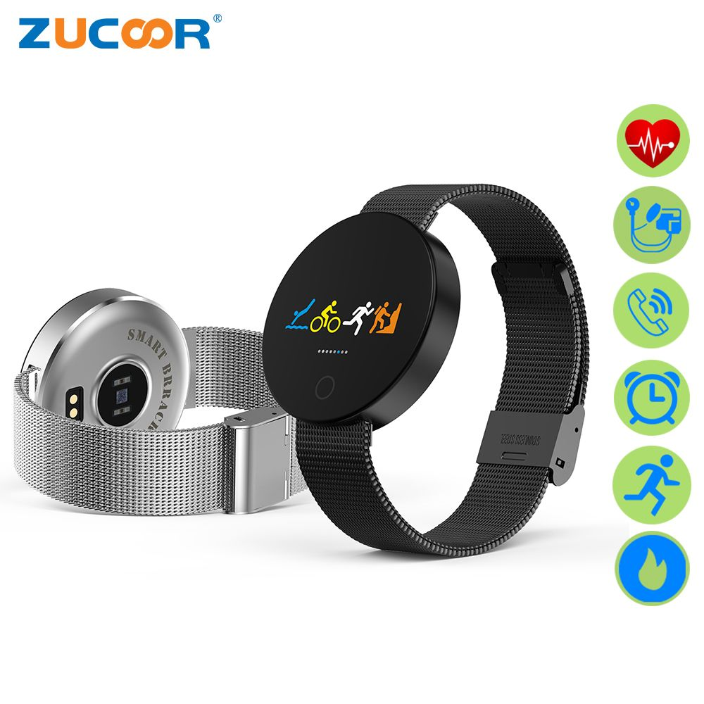 ZUCOOR Smart Bracelet Tonometer Step-meter Fitness Clock Hours Smartband Electronic Wrist Sport Activity Monitor Erkek Kol Saati