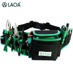 LAOA водонепроницаемая сумка для электрика двухслойные сумки для инструментов набор инструментов для хранения поясная сумка карман для проф...