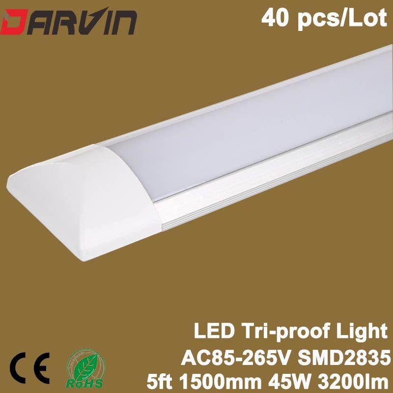 La lumière menée de Purification de nettoyage 5ft 45 W 1500mm a mené la lampe linéaire menée par lumière de latte Tri-preuve de Tube AC85-265V 110 V 220 V