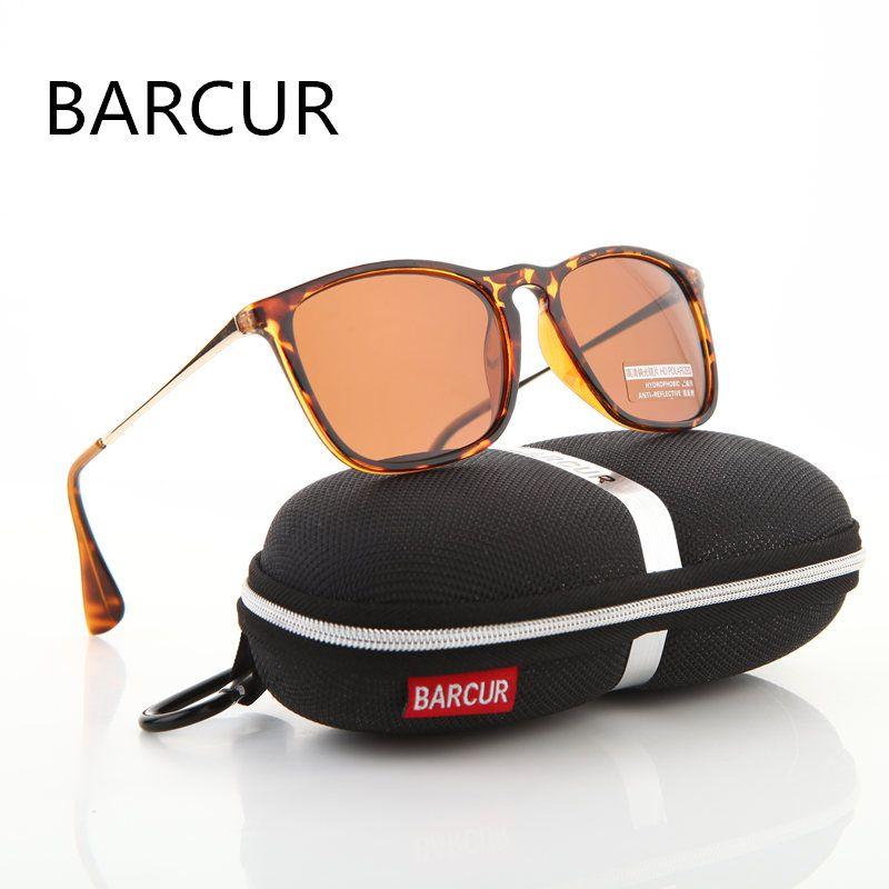 BARCUR marque Designer mode été unisexe lunettes de soleil revêtement polarisé miroir classique lunettes de soleil lunettes pour homme pour hommes/femmes