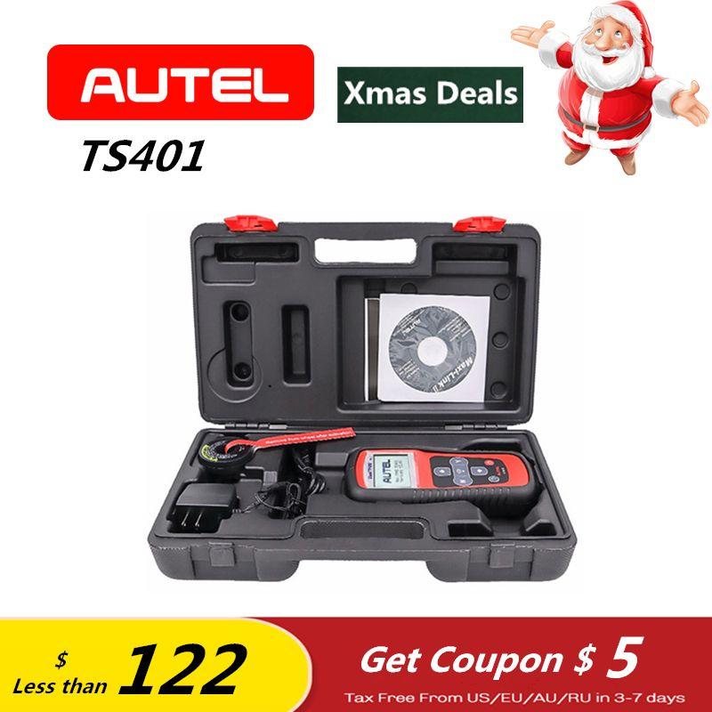 AUTEL MaxiTPMS TS401 TPMS OBD2 Automotive Programming Tire Sensor Activator Decoder Code Reader Car Diagnostic Tool ELM327 Gift