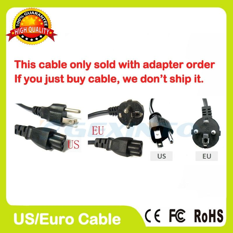 EU us-stecker AC Netzkabel kabel für laptop adapter blei Adapter