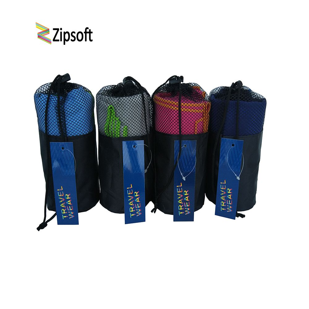 Zipsoft Beach Towels With Bag Gym Sports Square wraps Mat for Adults Swimming <font><b>pool</b></font> Travel Camping Hair Quick Dry Sports Washrag