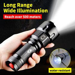 SHENYU Powerful Tactical LED Flashlight CREE XML-T6 L2 Zoom Waterproof Torch for 26650 Rechargeable or AA Battery