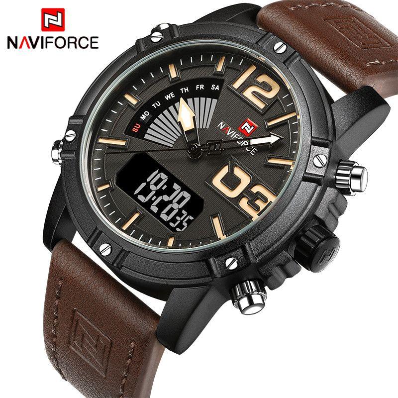 <font><b>NAVIFORCE</b></font> Original Luxury Brand Quartz Watch Men Digital LED Clock Men's Watch Military Sports Wrist watch relogio masculino